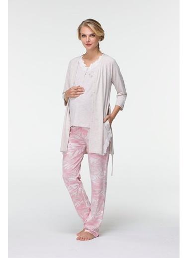 Hays Mom Penye Sabahlıklı 3lü Pijama Takımı